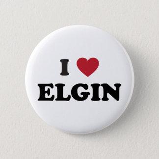 I Love Elgin Illinois Pinback Button