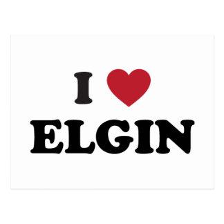 I Love Elgin Illinois Postcard
