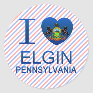 I Love Elgin, PA Round Stickers