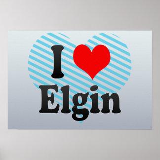 I Love Elgin, United States Print