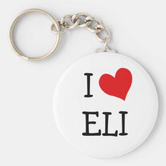 I Love Eli Basic Round Button Keychain