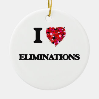 I love ELIMINATIONS Double-Sided Ceramic Round Christmas Ornament