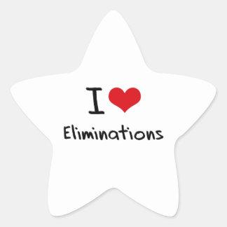 I love Eliminations Sticker