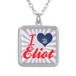I Love Eliot, Maine Personalized Necklace