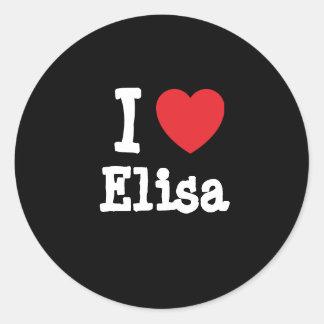 I love Elisa heart T-Shirt Classic Round Sticker