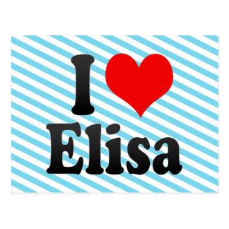I love Elisa Postcard