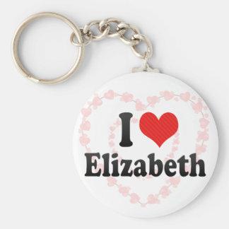 I Love Elizabeth Keychain