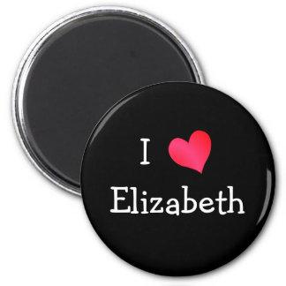 I Love Elizabeth Refrigerator Magnets