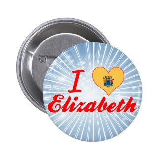 I Love Elizabeth New Jersey Buttons