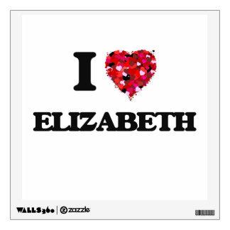 I love Elizabeth New Jersey Wall Sticker