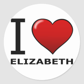 I LOVE ELIZABETH,NJ - NEW JERSEY CLASSIC ROUND STICKER