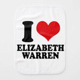 I LOVE ELIZABETH WARREN BURP CLOTH