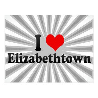 I Love Elizabethtown, United States Postcard