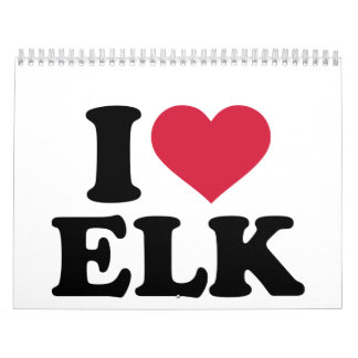 I love elk calendar
