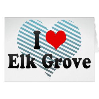 I Love Elk Grove, United States Stationery Note Card