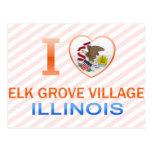 I Love Elk Grove Village, IL Post Card
