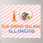 I Love Elk Grove Village, IL Print