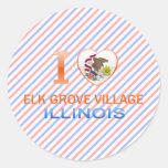 I Love Elk Grove Village, IL Round Stickers