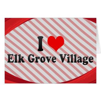 I Love Elk Grove Village, United States Stationery Note Card
