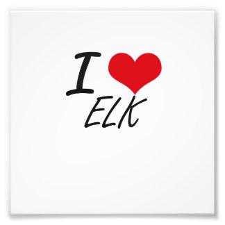 I love ELK Photo Print
