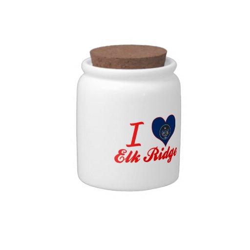 I Love Elk Ridge, Utah Candy Dishes