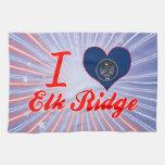 I Love Elk Ridge, Utah Towel