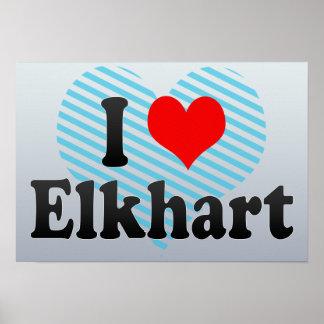 I Love Elkhart, United States Poster