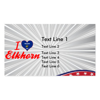 I Love Elkhorn, Wisconsin Business Card Templates