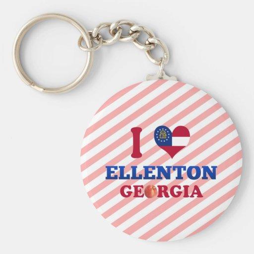 I Love Ellenton, Georgia Basic Round Button Keychain