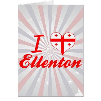 I Love Ellenton, Georgia Card