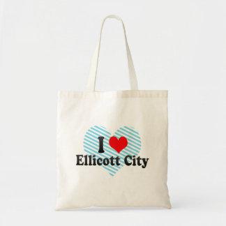 I Love Ellicott City, United States Tote Bags