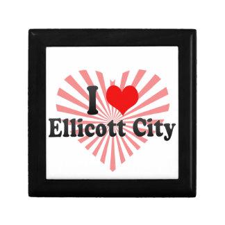 I Love Ellicott City, United States Keepsake Box