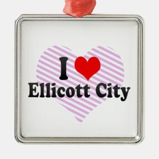I Love Ellicott City, United States Christmas Tree Ornament