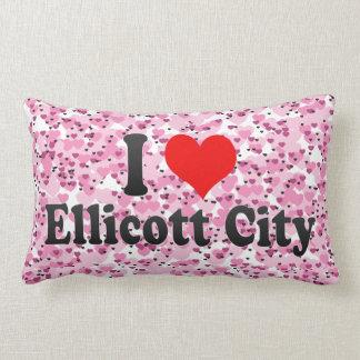 I Love Ellicott City, United States Throw Pillows