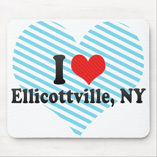 I Love Ellicottville, NY Mouse Pads