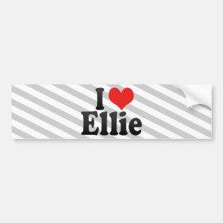 I Love Ellie Bumper Sticker