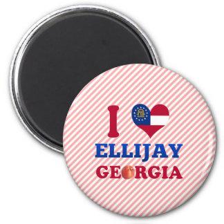 I Love Ellijay, Georgia Magnet