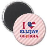 I Love Ellijay, Georgia Magnets