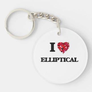 I love ELLIPTICAL Single-Sided Round Acrylic Keychain