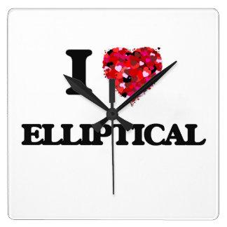 I love ELLIPTICAL Square Wallclocks