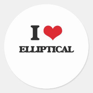 I love ELLIPTICAL Classic Round Sticker