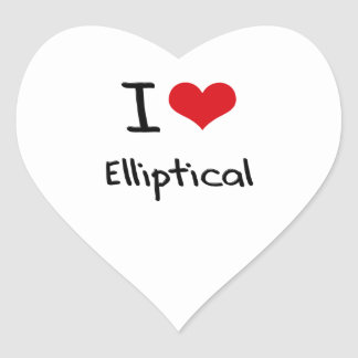 I love Elliptical Heart Sticker