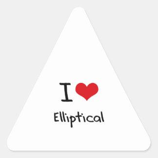 I love Elliptical Triangle Sticker
