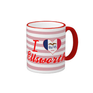 I Love Ellsworth, Iowa Coffee Mugs