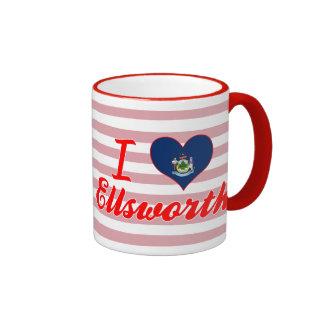 I Love Ellsworth, Maine Coffee Mugs