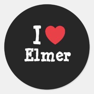 I love Elmer heart T-Shirt Classic Round Sticker