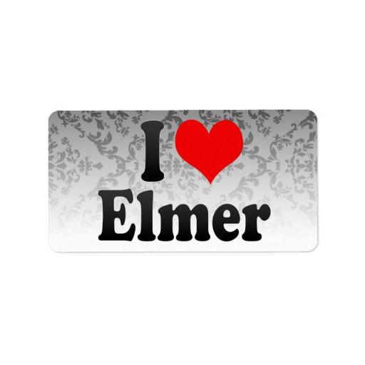 I love Elmer Personalized Address Label