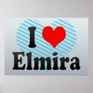 I Love Elmira, United States Posters