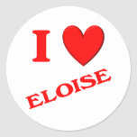 I Love Eloise Classic Round Sticker