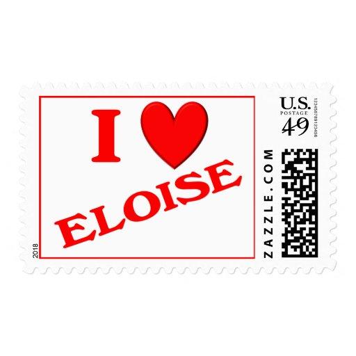 I Love Eloise Postage Stamps